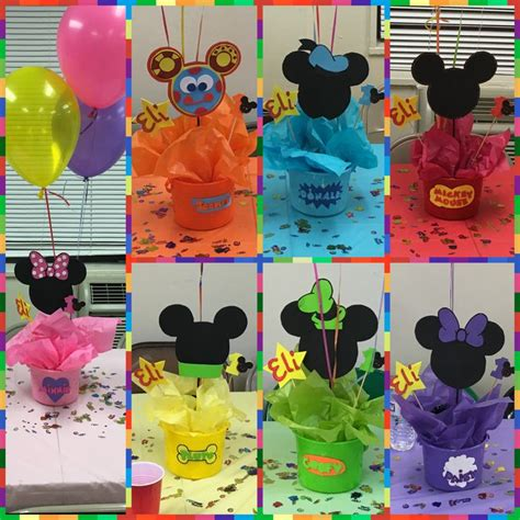 mickey mouse club house centerpieces mickey mouse