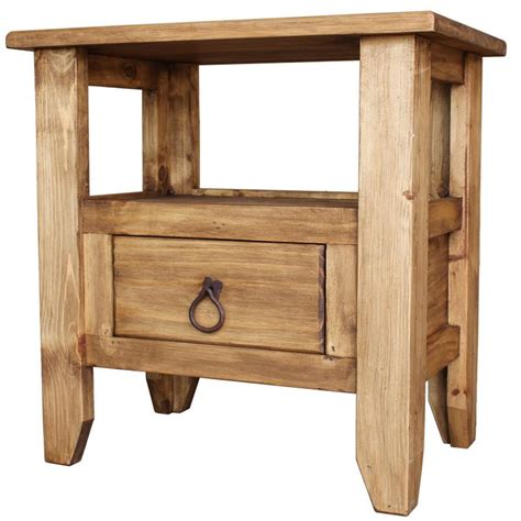 rustic pine end table rustic pine collection san marcos end table lat20