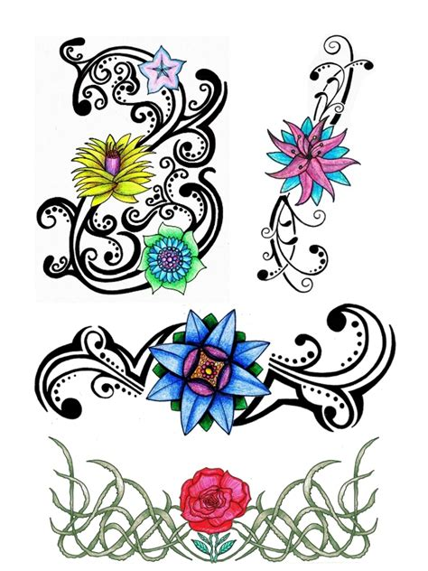 floral tribal tattoo tribal floral designs by thehoundofulster on deviantart