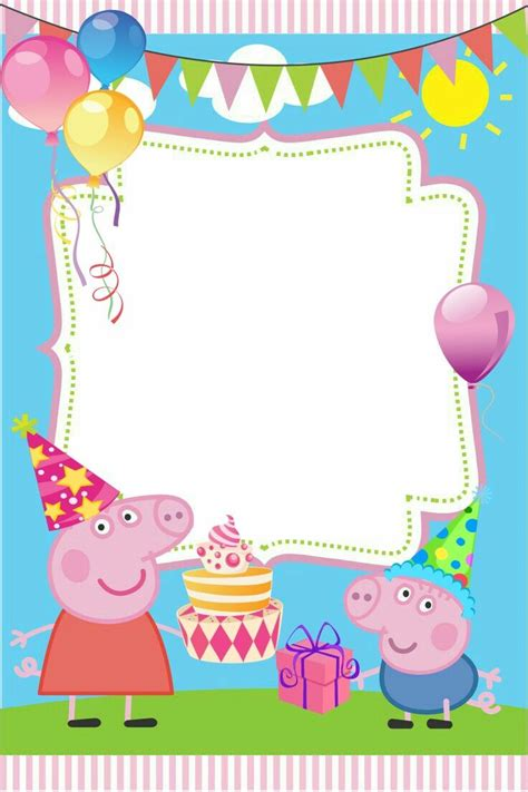 Peppa Pig Thank You Card Template by Best 25 Peppa Pig Ideas On Pepper Pig