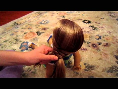 How to do an easy & cute hairstyle on your American Girl doll!   Kids   Pinterest   Girl dolls