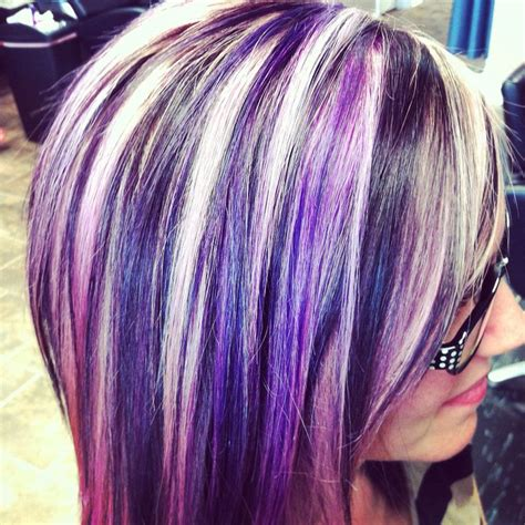 hairstyles with blonde and purple highlights blonde hair with pink and purple highlights www pixshark