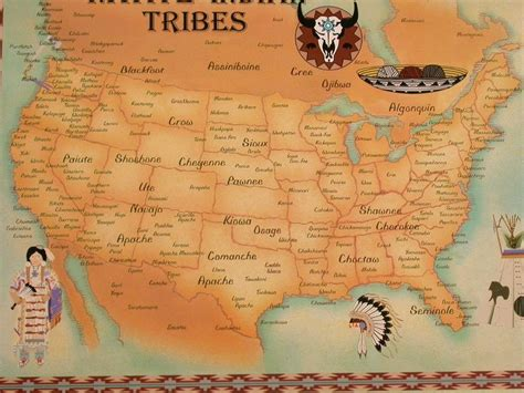 american tribes in oklahoma by map american map i believe pawnee should be in
