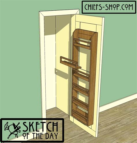 Door Pantry Storage Rack by Sketch Of The Day Pantry Door Organizer Chief S Shop