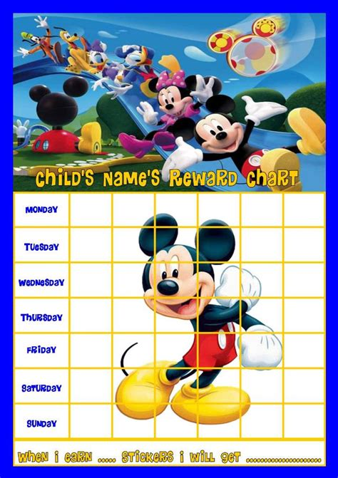 printable mickey mouse reward charts mickey mouse clubhouse b personalised reward chart with