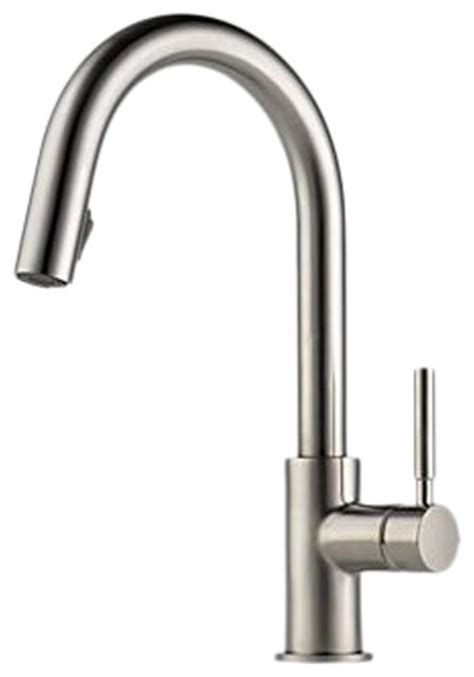 all metal kitchen faucet brizo 63020lf ss solna stainless steel pull kitchen faucet modern kitchen faucets by