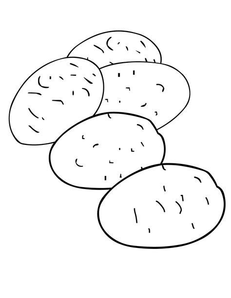 Potato Coloring Page Handipoints Potato Coloring Page