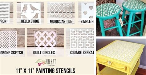 Handmade Stencils - diy painting stencils 4 99 from 20