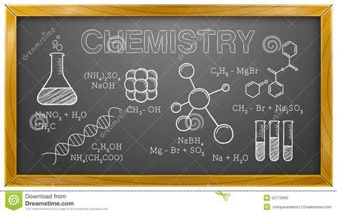 Chemistry, Science, Chemical Elements, Blackboard Stock