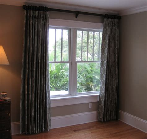 bedroom blackout window coverings master bedroom blackout pleated draperies on wood poles