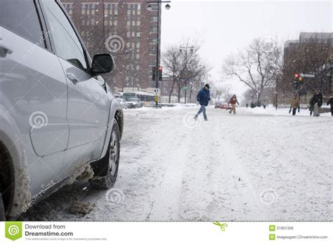 fotos montreal invierno invierno que conduce en montreal fotos de archivo libres