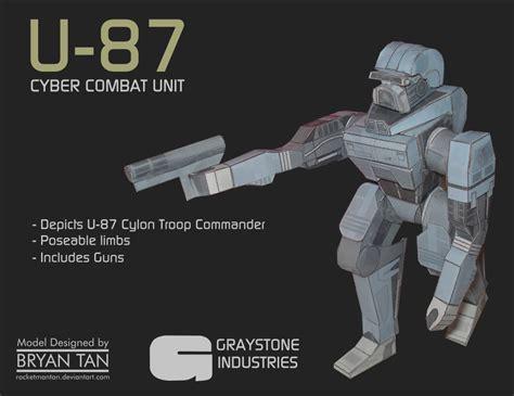 Battlestar Galactica Papercraft - battlestar galactica u 87 cylon cyber combat unit po