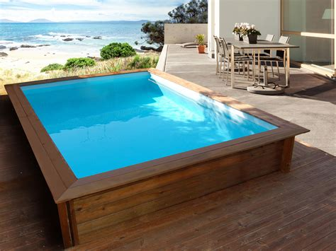 Piscine Bois Sans Liner 2272 by Piscine Bois Rectangle Quot Toledo Quot 3 00 X 2 00 X 0 71 M 80488