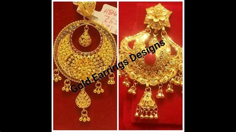 pattern of gold earring gold earrings designs 2017 july all latest collection