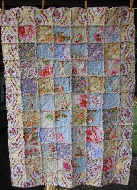 Chic Quilts by Shabby Chic Rag Quilt Garden Crib Quilt Small Throw