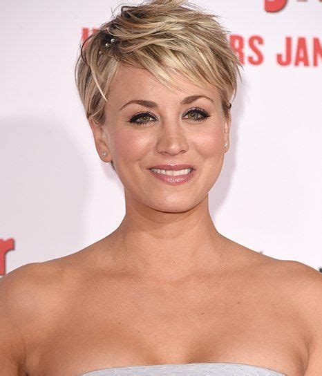 pixie cut penny kaley cuoco pixie cut behind wedding hair idea a quick