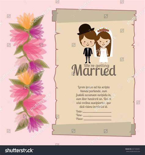 wedding invitation graphic design vector wedding invitation design vector illustration eps10 stock vector 357183491