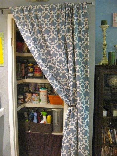 curtain    door diy closet doors pantry