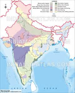 crops map india agriculture map agriculture map of india