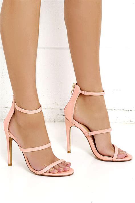 blush colored high heels blush heels dress sandals high heel sandals 32 00