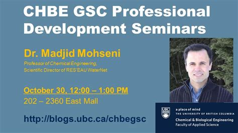 chbe graduate students council where chbe ubc events chbe gsc professional development speaker series oct 30