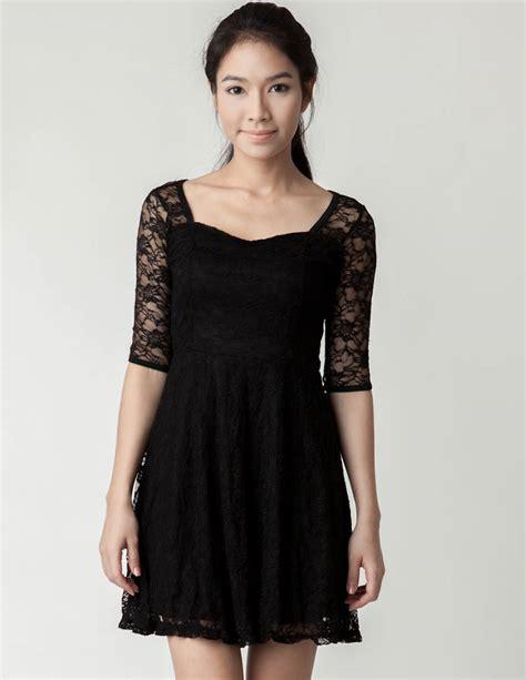 Dress Lace black lace dress dressed up