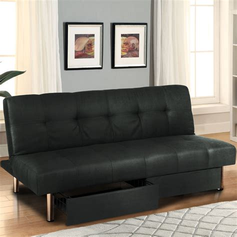 Bed To Sofa Microfiber Futon Folding Sofa Bed Mattress Storage Recliner Lounger Ebay