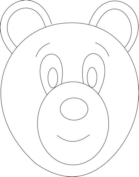 bear mask coloring page printable bear coloring pages coloring home