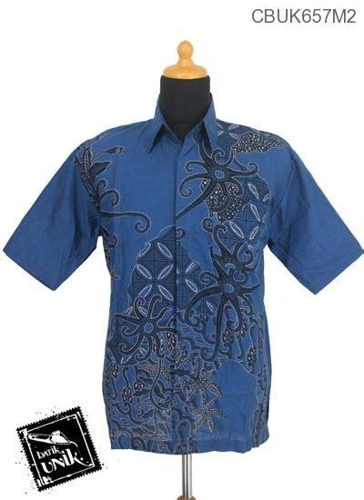 Foto Baju Volly Motif Batik baju batik kemeja motif gurita kawung kemeja pendek murah batikunik