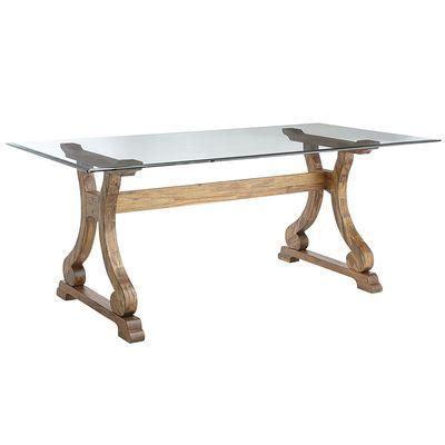 Rectangular Dining Table Base Marchella Java Brown Rectangular Dining Table Base