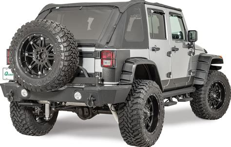 Jeep Wrangler Tire Carrier Rage Products Rear Recovery Bumper With Tire Carrier