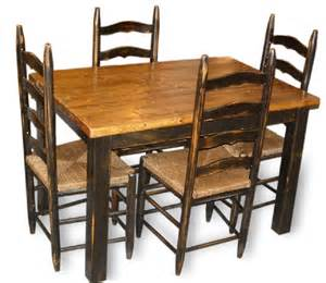 Farmhouse Dining Table And Chairs Primitive Farmhouse Table Four Chairs