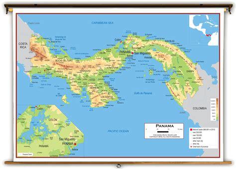 physical map of panama panama physik karte