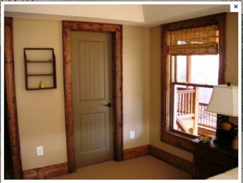Painted Interior Doors With Stained Trim Painting Interior Wood Doors