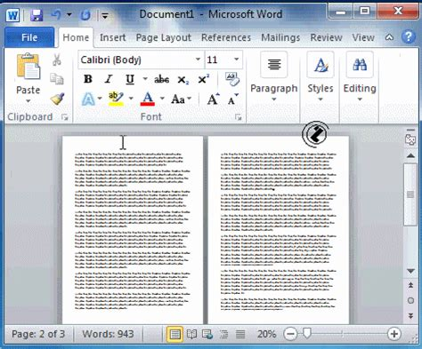 layout margin word2010 page setup