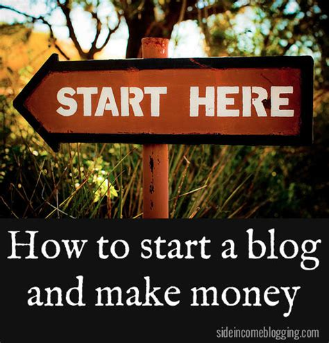 How To Start A Blog And Make Money Online - how to start a blog and make money side income blogging