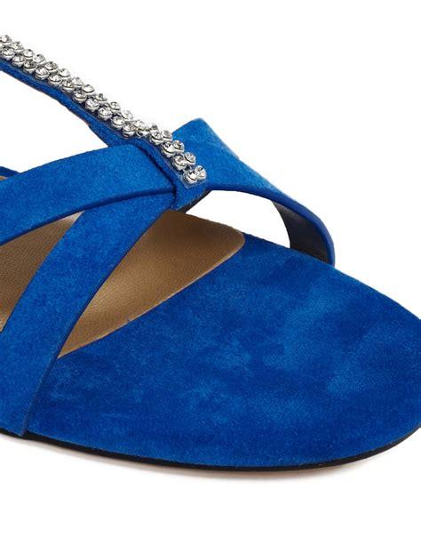 Trim Patent Flat Sandal By Asos by Shoesissima Shoesissima Dara Colbolt Trim Flat