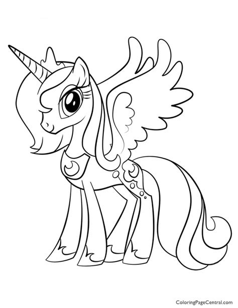 pony princess luna  coloring page coloring
