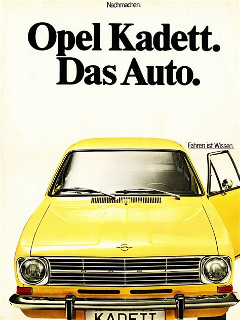 opel volkswagen opel pokes vw and das auto slogan by celebrating the