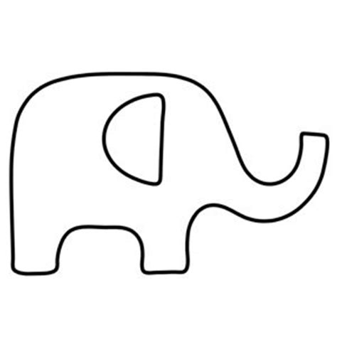 25 best ideas about elephant outline on pinterest