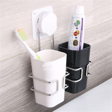 bathroom toothbrush holder simple suction cup hanging bathroom toothbrush holder