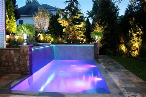 Pool Landscape Lighting Ideas Landscaping Ideas By Nj Custom Pool Backyard Design Expert