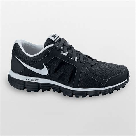 nike dual fusion st 2 s shoes black silver all