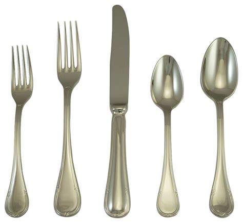 steel place setting set of 5 modern flatware and vendome place setting set of 5 modern flatware and