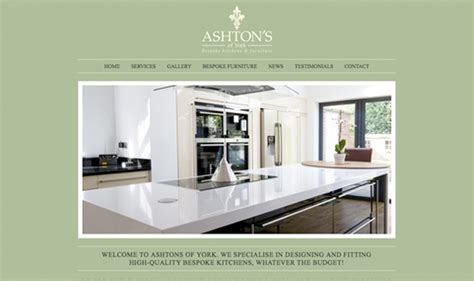 kitchen design sites website design for ashton s of york affordable web design