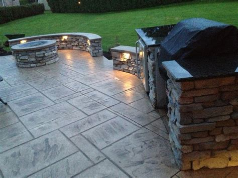 backyard fire pit grill patio with stcrete fire pit and grill area love this