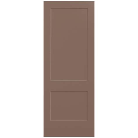 home depot interior doors jeld wen 36 in x 96 in monroe medium chocolate painted