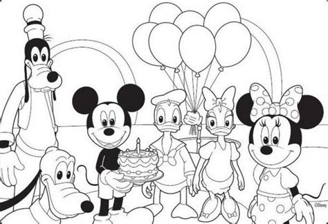 mickey mouse party coloring pages birthday mickey mouse coloring pages birthday coloring