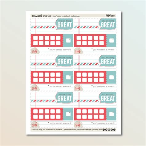 reward card template reward cards free printable pinkadot shop pinkadot shop