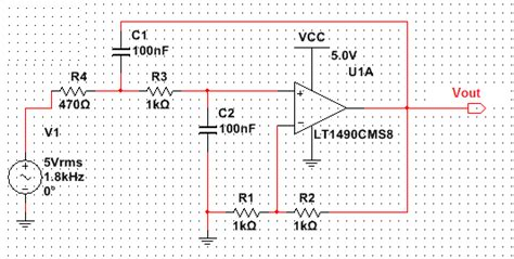 high pass filter using multisim low pass behavior of the sallen key second order filter electrical engineering